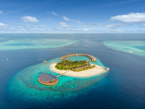 A solar-powered private island in the Maldives with 15 overwater bungalows is the best new luxury hotel to visit in 2019