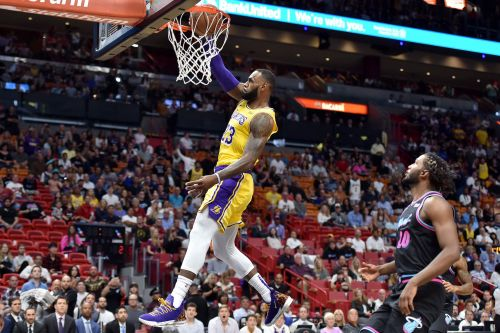 LeBron James rammed home 51 points for the LA Lakers to punish his former team Miami Heat