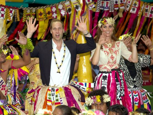 How members of the royal family dress around the world to respect local culture
