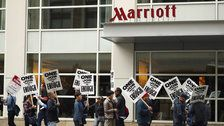 Some Marriott Employees Return To Work - But Record-Breaking Strike Not Over Yet