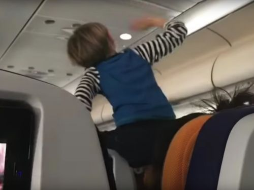 A toddler was filmed screaming for 8 hours on a flight - and the footage reveals a mounting, divisive issue for air travelers