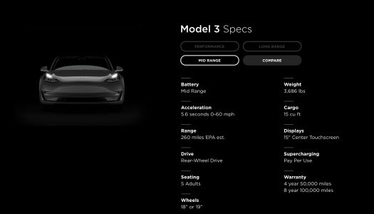 Tesla is rolling out a cheaper, mid-range Model 3