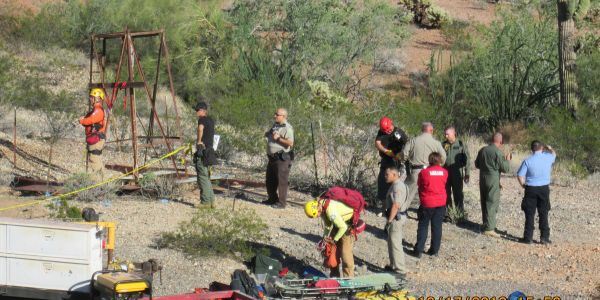 An elderly man fell down an abandoned Arizona mine shaft, broke his legs, fought off 3 snakes, and lived