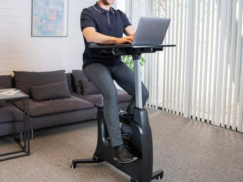 This $400 stationary bike desk lets me get work done and a workout at the same time - it's a win-win for people like me with busy schedules