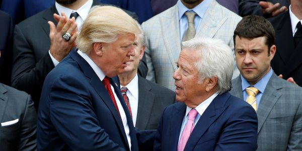 Trump reportedly still wants Robert Kraft at the Patriots White House Super Bowl party despite Florida massage-parlor prostitution scandal