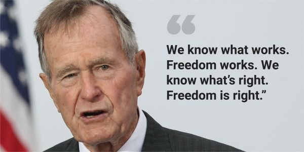 14 of George H.W. Bush's most presidential quotes