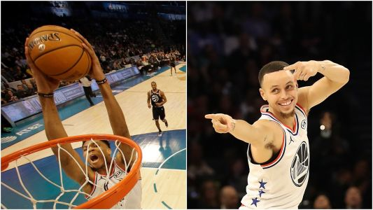 Steph Curry's insane bounce pass for Giannis Antetokounmpo's alley-oop stole the show at NBA All-Star game