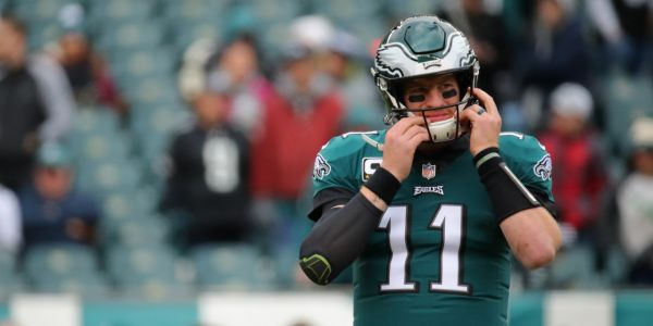 Eagles blow big 4th quarter lead to the Panthers after getting caught celebrating prematurely