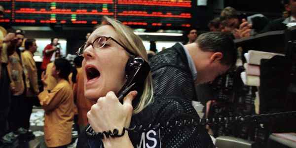 The market's 'fear index' just exploded upwards as stocks around the world plummet