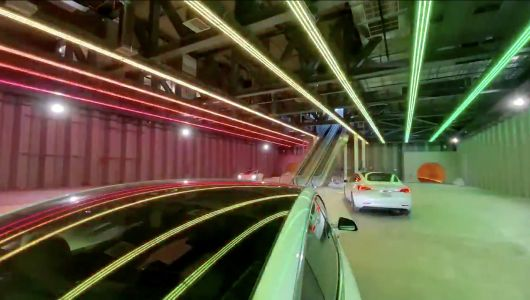 Elon Musk's Boring Company just shared a first look inside its Las Vegas people mover - complete with 'tunnel rave' lights