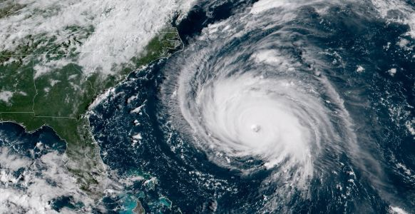 NASA recorded 'a stark and sobering' video of Hurricane Florence from the International Space Station