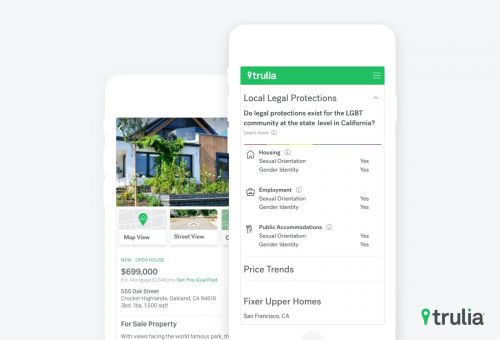 Trulia Debuts Feature, 'Local Legal Protections,' for LGBT Users