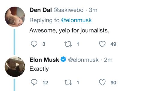Elon Musk has a very bad idea for a website rating journalists