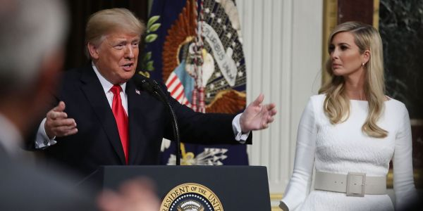 'They weren't deleted like Hillary Clinton's': Trump defends daughter Ivanka's use of a private email account for government business