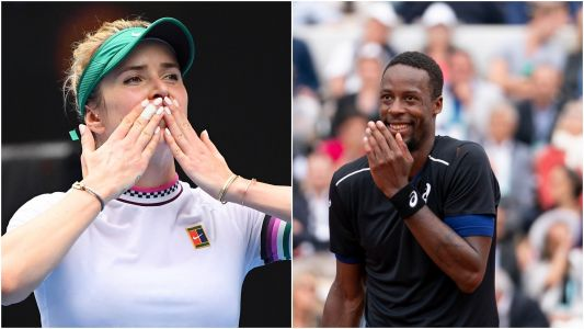 The romance between Gael Monfils and Elina Svitolina is one of the most adorable stories at the Australian Open, and the couple even have a joint Instagram account