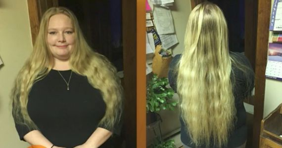 A woman who hasn't had a haircut in 7 years got a drastic makeover - and the result is stunning
