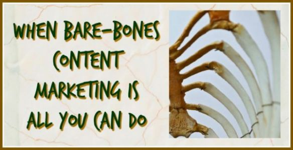 Bare-Bones Content Marketing: How To Do The Best You Can With What You've Got