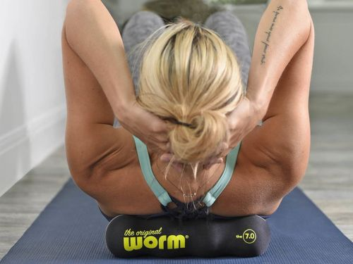 This $24 portable foam roller does wonders for loosening up my sore muscles