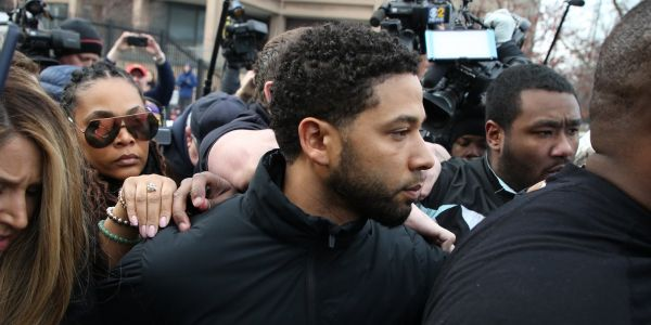 Jussie Smollett reportedly went back to the 'Empire' set after appearing in court and told colleagues: 'I swear to God, I did not do this'