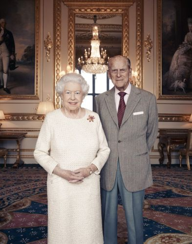 New royal portraits have been released to mark the 70th wedding anniversary of the Queen and Prince Philip