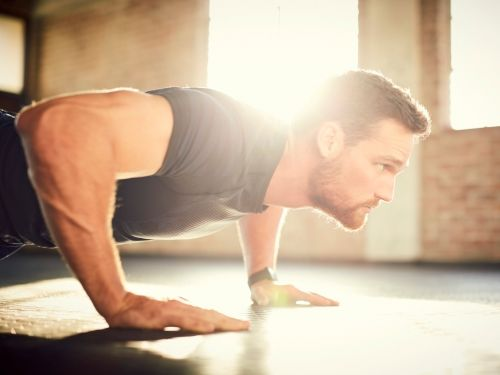 Men who can do 40 push-ups are less at risk of heart disease, according to a new study