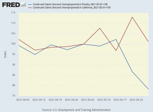 Ceasing emergency federal unemployment benefits: A look at the latest state-level data