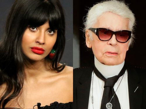'The Good Place' star Jameela Jamil calls Karl Lagerfeld a 'ruthless, fat-phobic misogynist' in a series of tweets