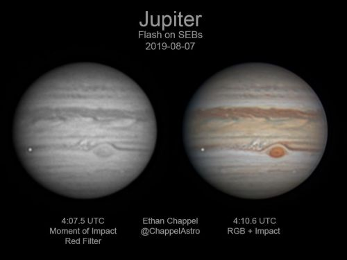 An amateur astronomer accidentally recorded a rare flash on Jupiter. The culprit turned out to be a 450-ton meteor