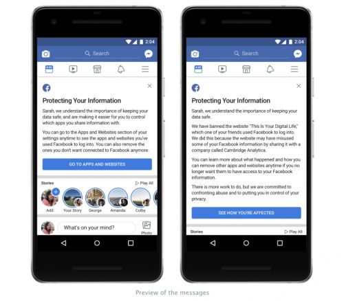 Facebook Is Notifying 87 Million Users Their Data May Have Been Compromised By Cambridge Analytica. Here's What to Know If You're One of Them