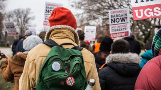 Iowa College Becomes Battleground For Student Worker Unionization