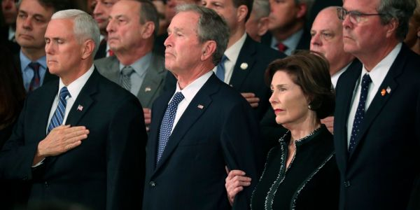 President George H.W. Bush's funeral expected to set aside political bickering, focus on his life