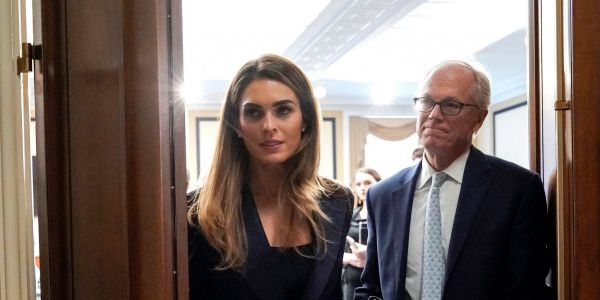 Trump said he'd be open to taking information from a foreign power in the upcoming election. Hope Hicks just said she thinks that would be a crime, according to someone who heard her closed-room testimony