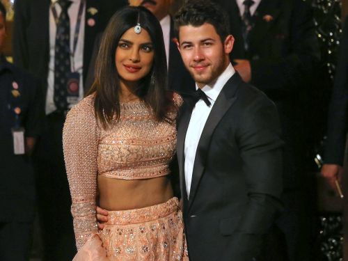 Priyanka Chopra wore a sparkly embroidered lehenga to the lavish wedding of the daughter of India's richest man
