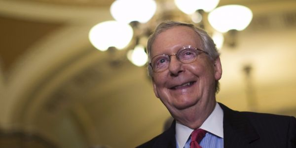 The giant Senate tax bill barely squeaked by a critical test