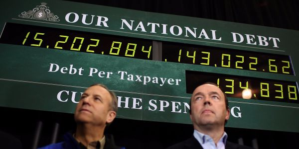 The US posted a $234 billion budget deficit last month, the biggest one-month deficit in history
