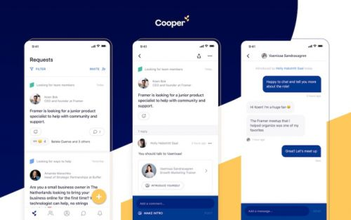 Cooper raises $2M to build a professional network centered on introductions