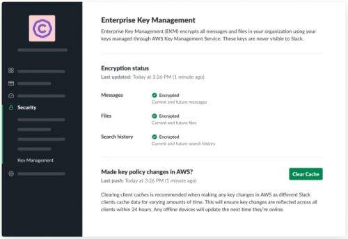 Slack hands over control of encryption keys to regulated customers