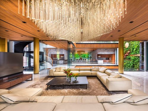 Look inside a Singapore supermarket billionaire's $50 million mansion, which combines a historic bungalow with an ultra-modern house and has a 100-foot swimming pool