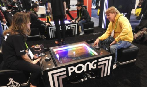 Atari Table Pong cleverly re-creates the classic video game using physics