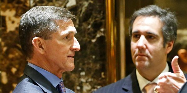 The White House implied Trump cares about Cohen's lies, but not Flynn's, because Cohen's directly implicated the president
