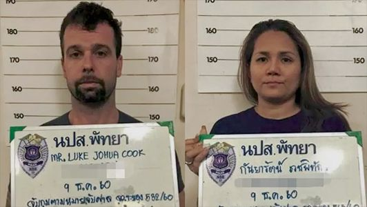 An Australian man and his Thai wife have been sentenced to death for trying to smuggle a half-ton of meth into Thailand