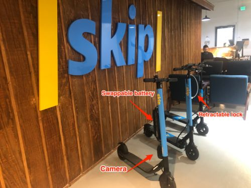 Skip unveils scooters with cameras and locks