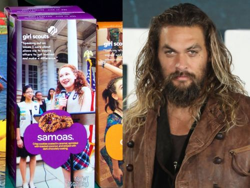 A Girl Scout sold out of cookies after putting a shirtless photo of Jason Momoa on the boxes and calling them 'Momoas'