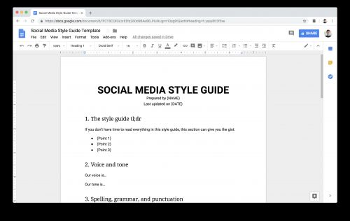 What a Real-Life Social Media Style Guide Looks Like