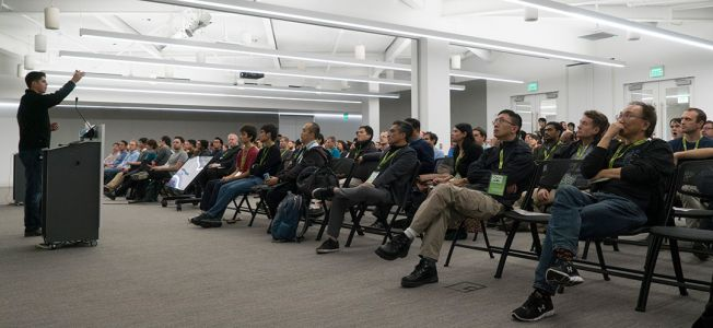 AI Devices that Walk, Roll and Fly - and Tacos - Draw Developers to NVIDIA HQ
