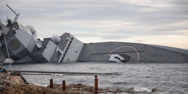 Norway has released video from inside the elite warship that sank after getting rammed by a tanker