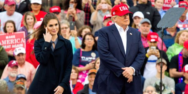 Hope Hicks warned Trump that Don Jr.'s emails setting up the Trump Tower meeting were 'really bad', but the president told her not to go to the press