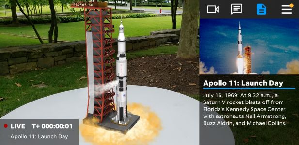 NASA's historic Apollo 11 launch comes to your phone in AR
