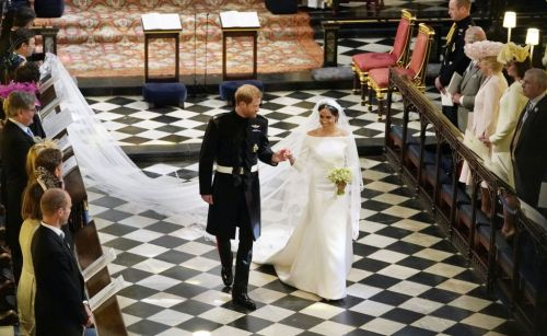 Meghan Markle Dons Wedding Dress Designed by Givenchy's Clare Waight Keller