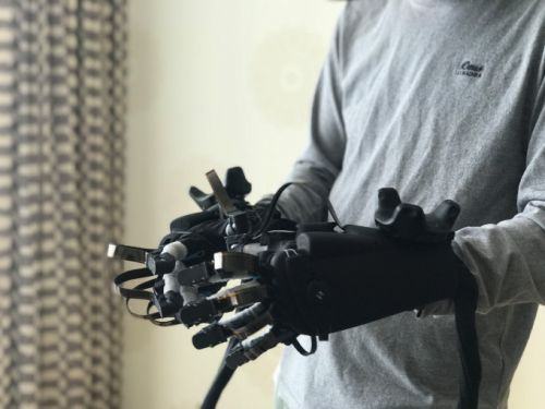 Haptx is bringing touch to VR with a pair of scary-looking gloves and a pneumatic suitcase